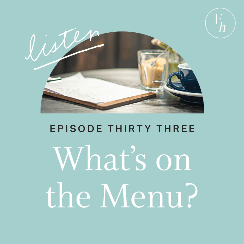 33. What's on the Menu?